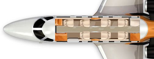 G-JAGA - Embraer Phenom 300 Layout