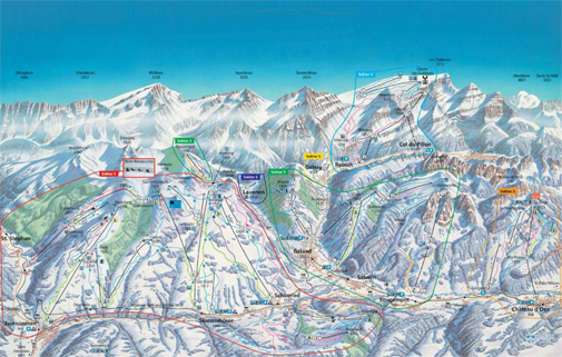 Gstaad piste map