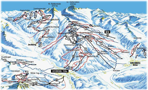 Kitsbuhl piste map